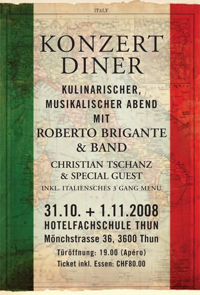 Roberto Brigante Konzert-Diner